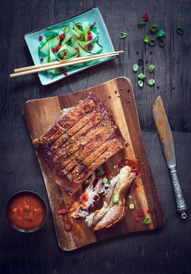 Piec wieprzowina brzuch zdjęcia stock