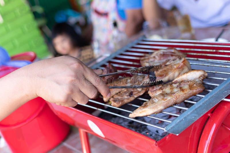 Piec wieprzowina na kuchence obraz stock