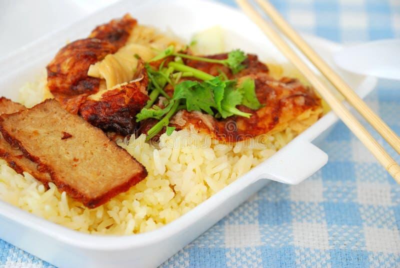 piec wieprzowina orientalni ryż obrazy royalty free