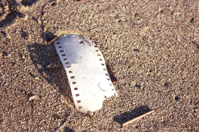 Piece of analogue strip film royalty free stock images