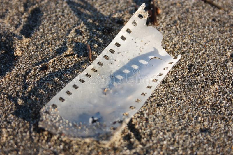 Piece of analogue strip film royalty free stock photography