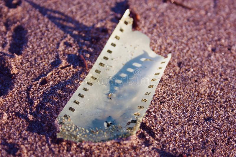 Piece of analogue strip film stock photography