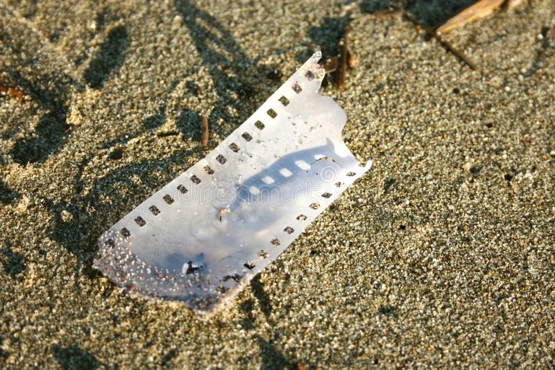 Piece of analogue strip film royalty free stock photo