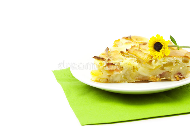 Download Piece Of Apple Pie On A Plate Stock Photo - Image: 16928710