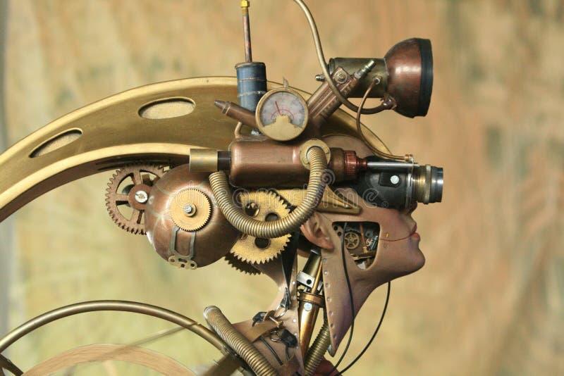 Piece of robot art stock photos