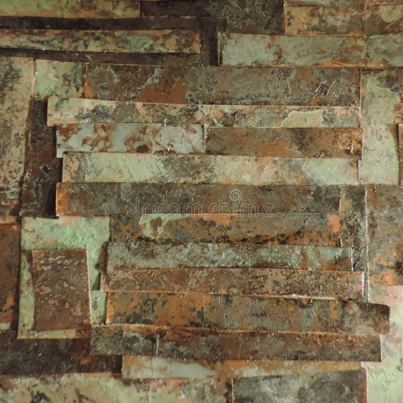 Worked copper. Piece of art made of worked copper royalty free stock images