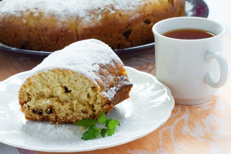 Biscuit Pie And Tea Stock Photos