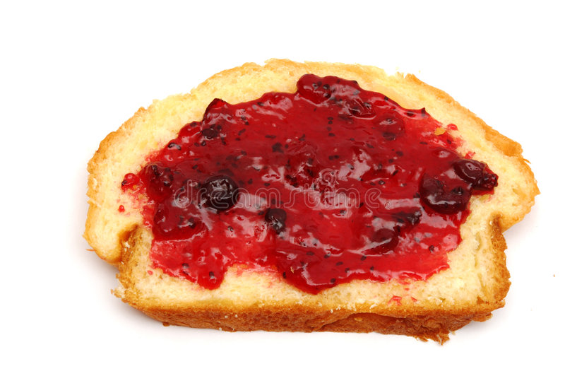 Download Piece Of Bread With Jam Stock Photo - Image: 523140