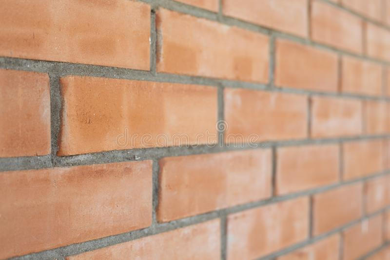 Piece of a brick wall. From a red brick royalty free stock photo