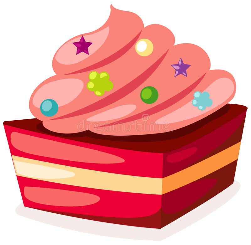 Piece of cake royalty free illustration