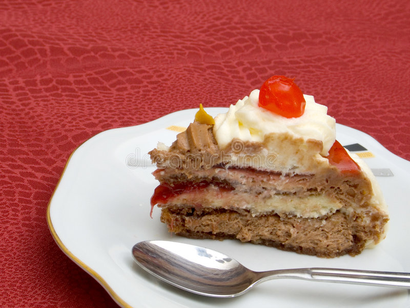 Download Piece of Cake stock photo. Image of cream, dinner, layers - 177046