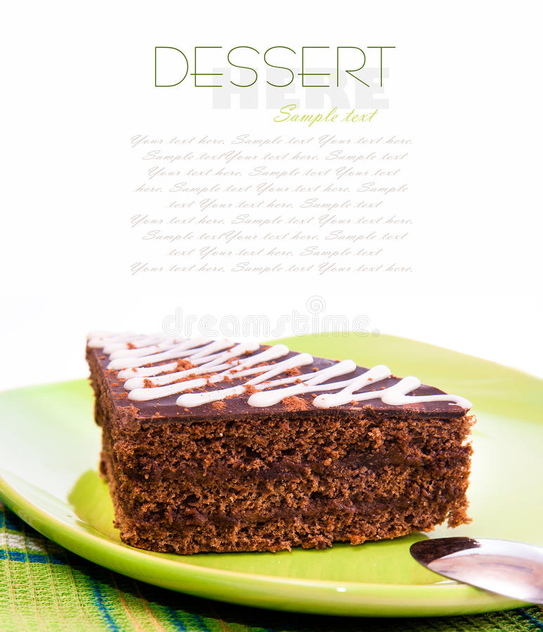 Download Piece of cake stock photo. Image of decorating, sweets - 23007070