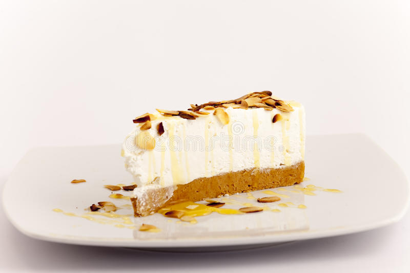 Piece Of Creamy Hazelnut Cake On Stock Image Image Of