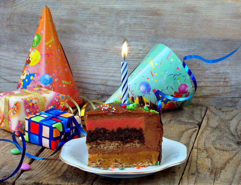 Piece of cake stock photography