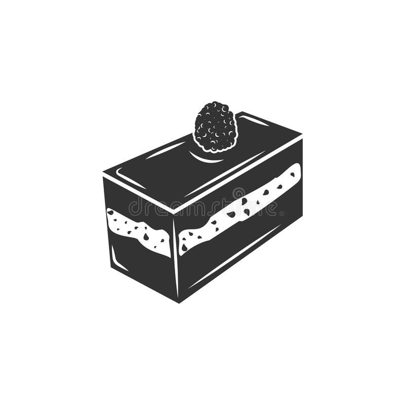 Piece of cake icon. Simple element illustration. Piece of cake symbol design template. Can be used for web and mobile stock illustration