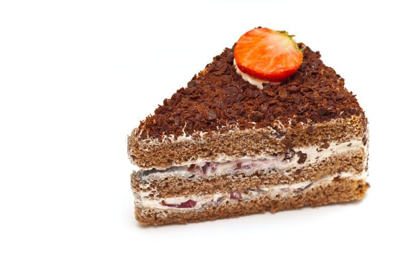 Piece of cake isolated. On white background royalty free stock image