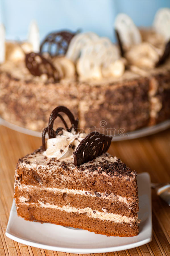 Download Piece of cake on a plate stock image. Image of biscuit - 29008823