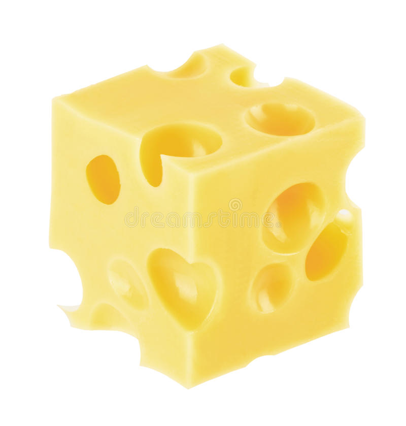 Piece of cheese stock photos