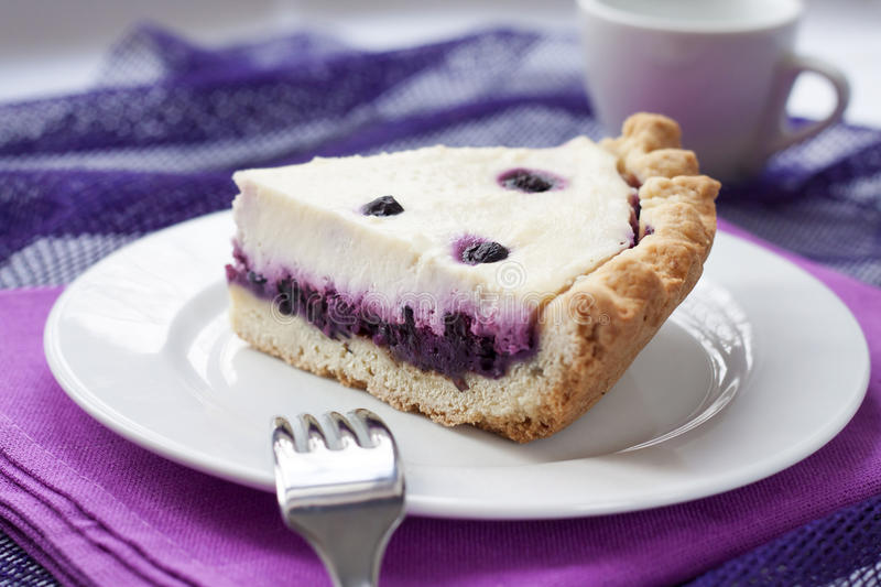 Download Piece Of Cheesecake With Blueberries Stock Photo - Image: 83706498