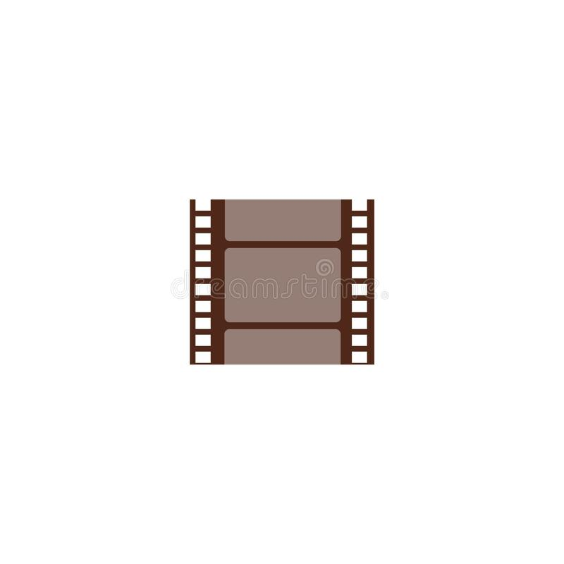 A piece of cut film string, small negative frame. vector illustration