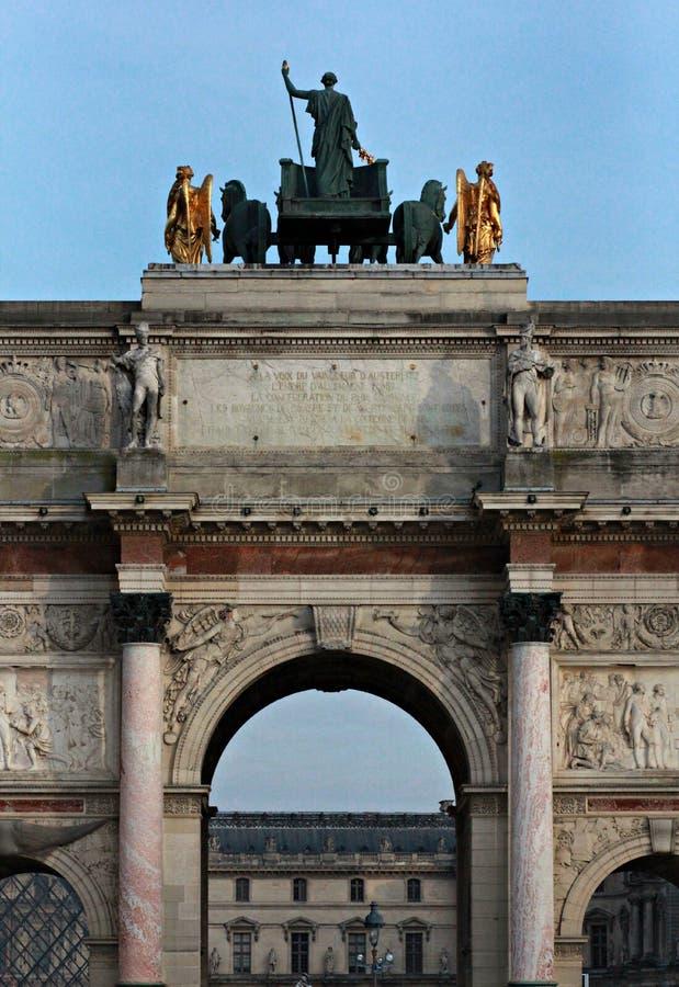 piece De Du Carrousel Paris triomphe France obraz royalty free