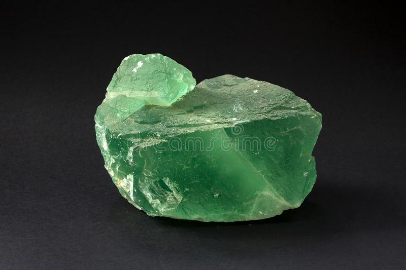 Piece of Fluorite mineral. Also called fluorspar stock photography