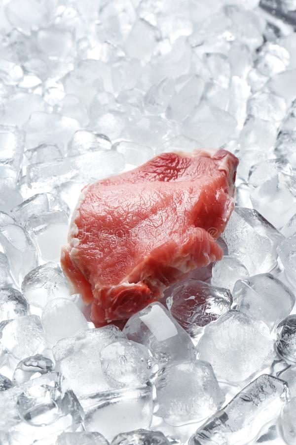 Piece of fresh raw meat stock photography