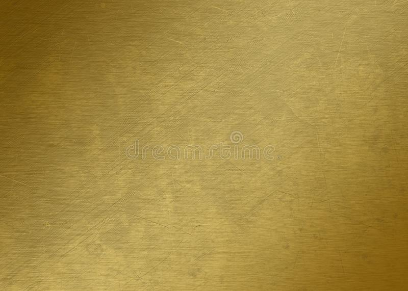 Piece of gold - Gold texture - Metal texture - Golden royalty free stock image