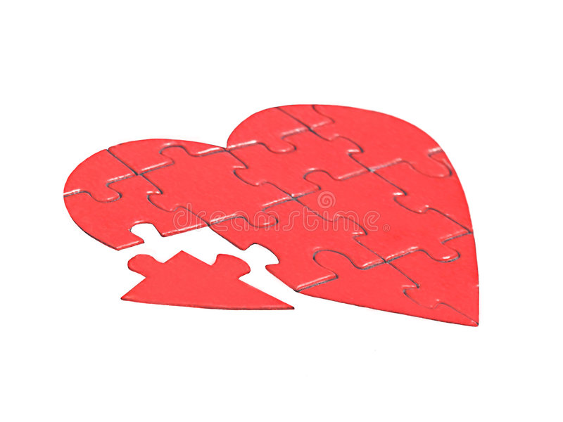 Piece of heart royalty free stock image