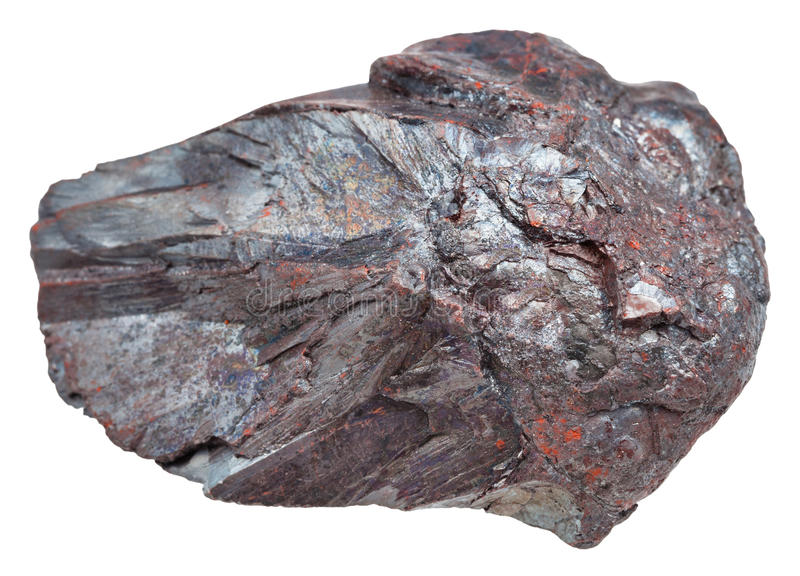 Piece of Hematite iron ore, haematite stone stock images