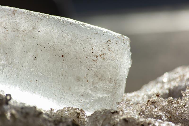 Piece of ice stock image