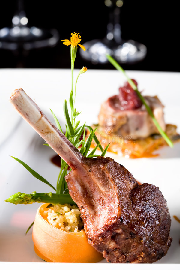 Download A piece of lamb chop meal stock photo. Image of restaurant - 6487390