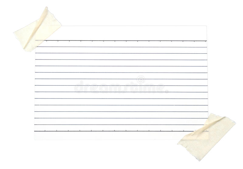 Download Piece Of Lined Paper Stuck With Tape Stock Image - Image of newsletter, copy: 39505849