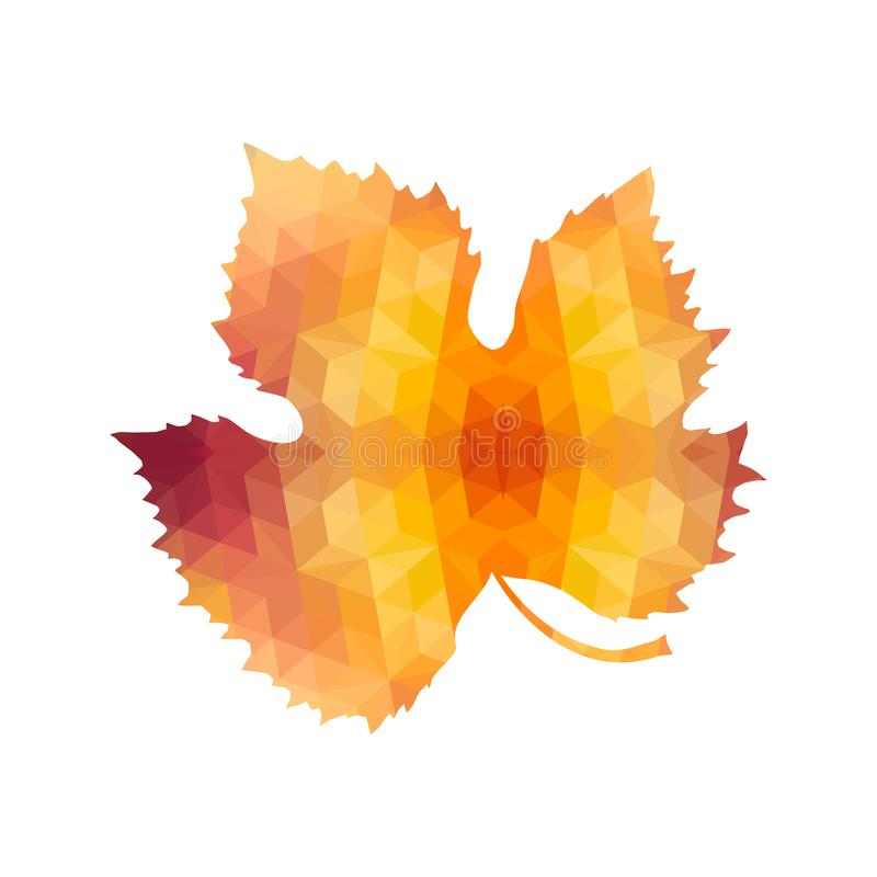 Triangle Polygonal Maple Leaf royalty free illustration