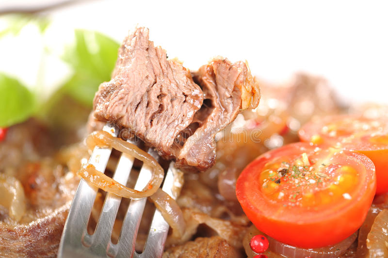 Piece of meat and food royalty free stock images