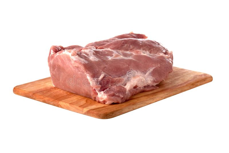 A piece of meat on a white background. stock image