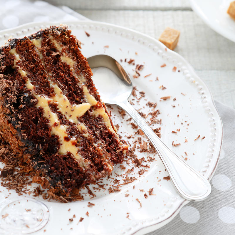 Free Piece Of Coffee Cake With Liquor Stock Photos - 38550373