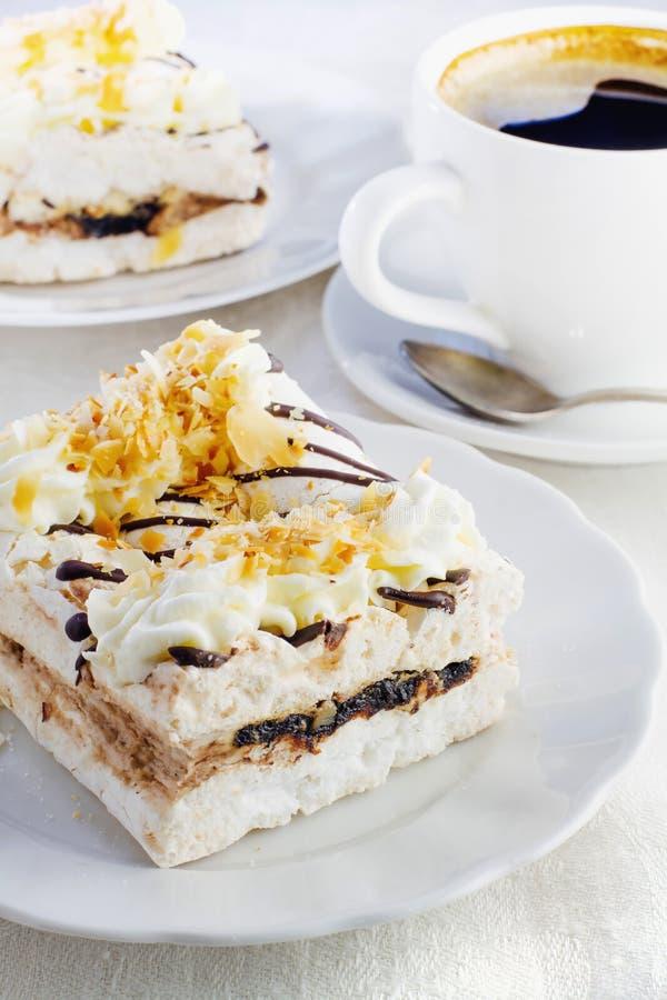 Free Piece Of Meringue Cream Cake Stock Photography - 47312762