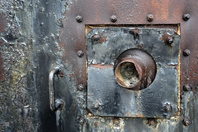 Piece of an old machinery royalty free stock photos