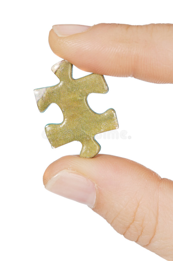 Piece of a puzzle stock photo