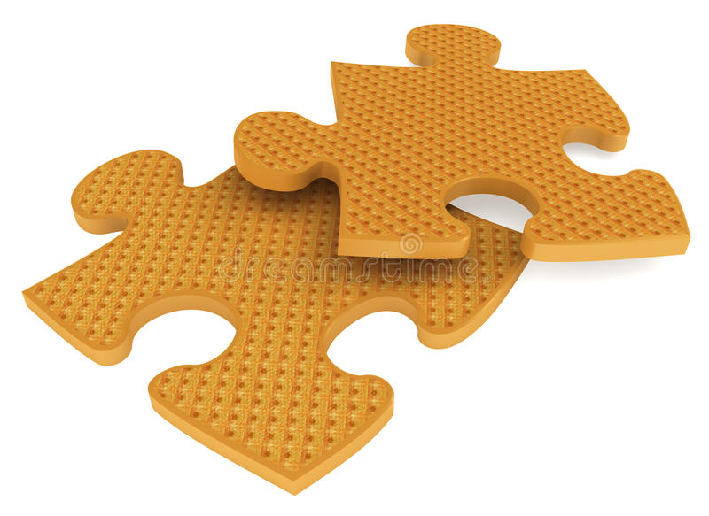 Piece of puzzle vector illustration