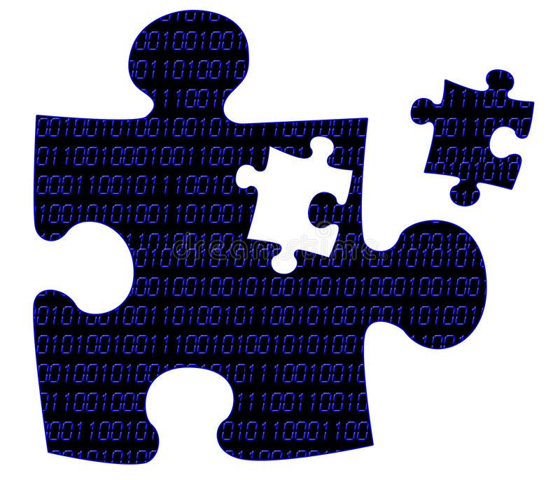 Piece of the puzzle royalty free illustration