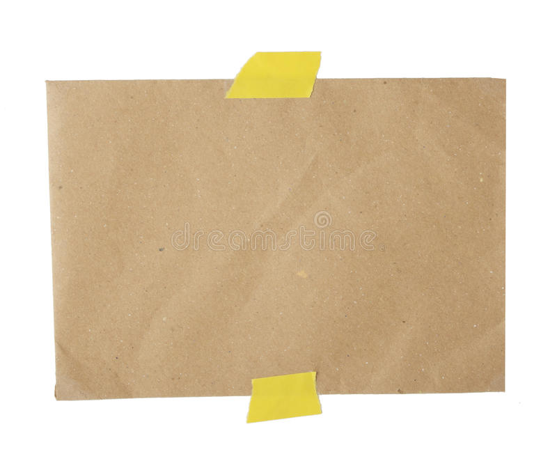 Piece of recycled paper stock image