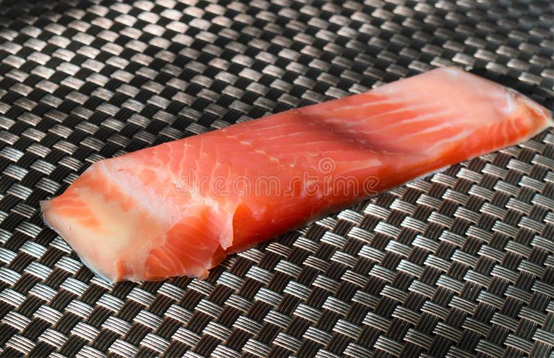 Piece of red fish fillet royalty free stock photography