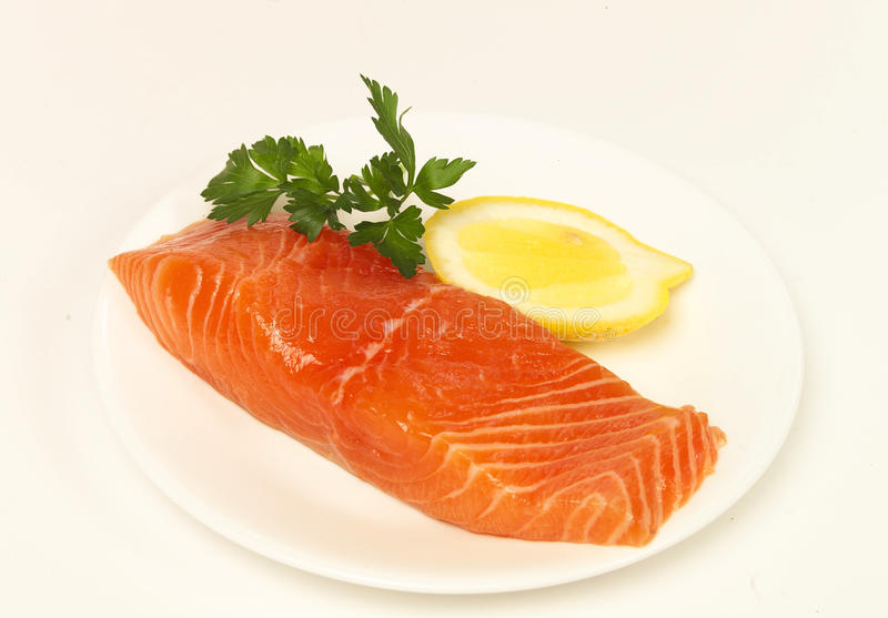Download Piece of salmon stock image. Image of salmon, fresh, plate - 25131959