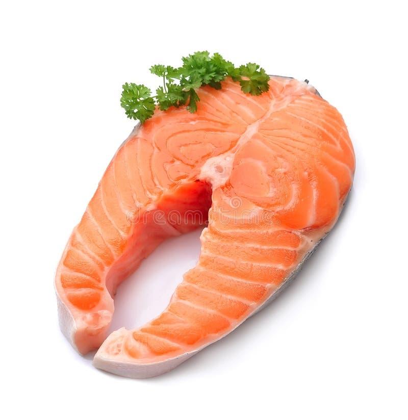 Piece of a salmon fish stock photo