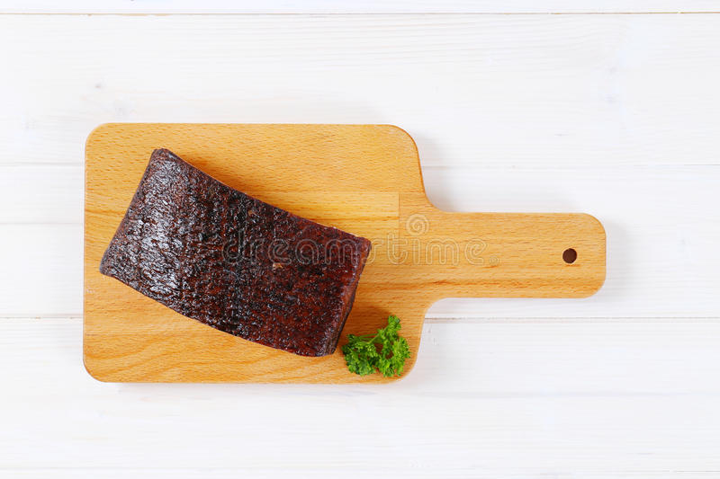 Download Piece Of Smoked Bacon Stock Photo - Image: 83708001