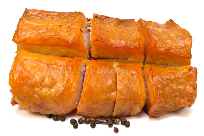 Piece of Smoked Fish stock images