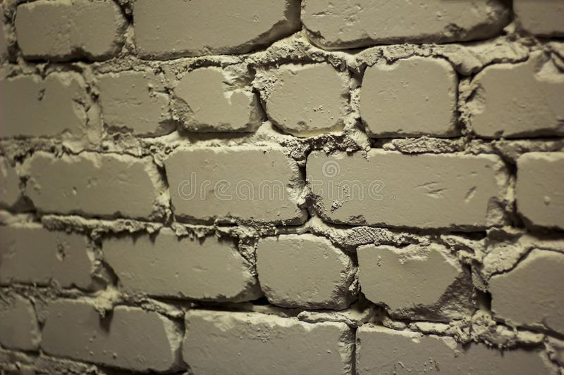 A piece of the wall of white brick royalty free stock photography