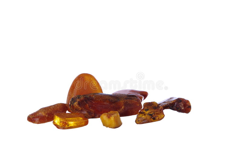Download Pieces Of Amber On White Stock Images - Image: 8357474